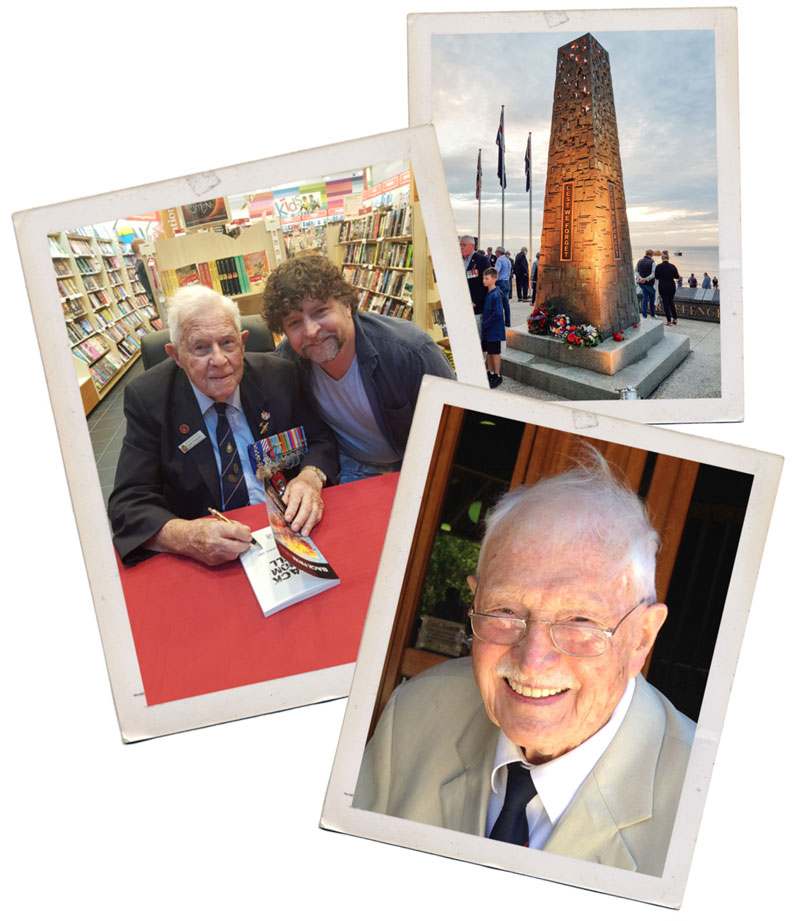 Jeff Hughes, David White and the Redcliffe ANZAC memorial